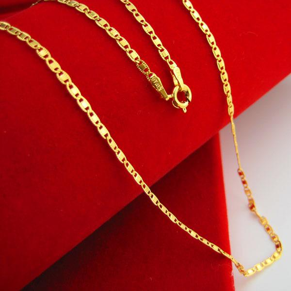 9c9e082b6ca10 For a long time does not fade imitation gold necklace gold plated pendant  chain with female 24K thousand thousand Bride Wedding Jewelry
