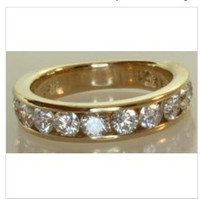 Wholesale Antique Estate - 18k yellow gold diamond wedding band estate 1.58CT IGI ring vintage antique 5.5g