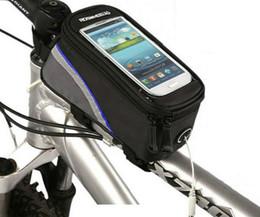 Kostenloser Versand Neue Wasserdichte Fahrrad Handytasche Fahrradrahmen Pannier Front Tube Bag Für 4,2 zoll Handy Fahrrad Zubehör