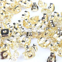 Wholesale Earring Findings Charms - Wholesale - New Arrival 3000pcs lot Gold Plated Iron Earring Back Stoppers Charms Finding Making 6*4*3mm 160878
