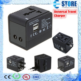Wholesale Iphone 4s Travel Charger - 2 USB port Worldwide Universal Travel Adapter Charger US EU UK AU Plug 5V 2.1A for iPhone 4 4S 5 ipad Samsung