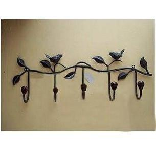 best selling New arrivel-wholsale Fashion rustic iron hook muons wrought iron wall coat hook rack coatless good priice