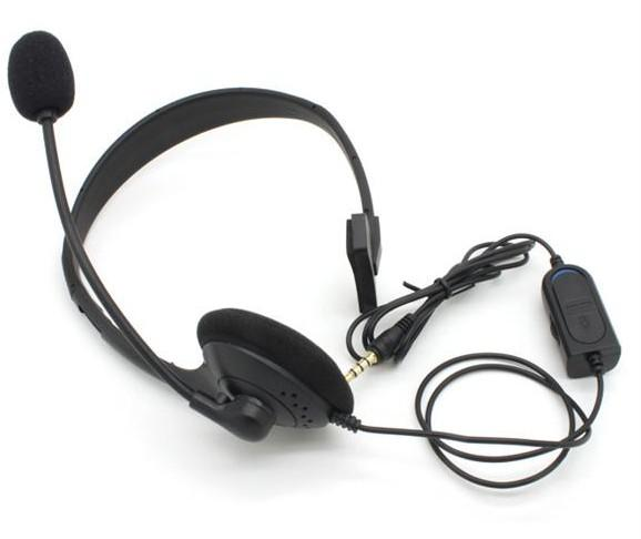 For Ps4 headset for ps4 headphone for PS4 earphone with Volume Control and Mic Black Free DHL shipping
