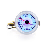 "Wholesale Press Boost - Turbo Boost Vacuum Press Gauge Meter for Auto Car 2"" 52mm -1~2BAR Blue LED Light Car Tool K1067"