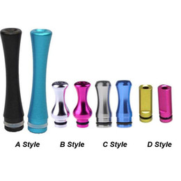 t2 mouthpiece Coupons - Colorful 510 Aluminum drip tip Flat Column Gourd Gracile Long Drip tips for 510 E Cigarette Vivi Nova CE4 DCT EE2 T2 T3 Atomizer Mouthpiece