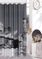 Wholesale New York Shower - New York City Shower bath bathroom hooks quality curtain printing screen waterproof