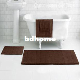 $enCountryForm.capitalKeyWord NZ - Stocked eco-friendly non-slip memory foam with microfiber surface bath mat in bathroom chocolate free shipping 400mmx600mm