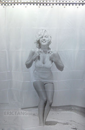 Wholesale Hook Free Shower Curtain - Brand New Marilyn Monroe Bathroom Eva Shower Curtain Free 12 Hooks