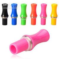 Wholesale Inhaler Vaporizer - Colorful Drip Tip E Cigs Inhaler Vaporizer Mouth Peice Drip Tips holder For eGo E cigarette eGo CE4 CE4 Plus CE5 CE6 Rebuildable Atomizer