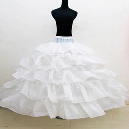 petticoat sale Canada - 2015 free shipping cheap Hot Sale! New Bridal Crinoline Petticoats 4 Layers Ruffles Ball Gown underskirt wedding Dresses