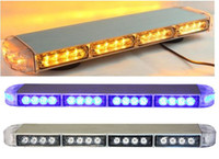 Wholesale Led Amber Mini Light Bar - Free shipping low profile GEN III 1 Watt super bright LED mini Warning Light bar,mini strobe light bar(amber blue red white)ESM3525