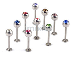 Wholesale Barbell Belly Button - Body Jewelry 100pcs 17G Tongue Barbell Belly Ring Navel Piercing Jewelry Body Piercing Jewelry [BB25*100]
