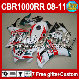 7gifts For HONDA CBR1000RR Castrol Red 2008 2009 2010 2011 CBR 1000 1000RR MC8185 CBR1000 RR 08 09 Green white 10 11 Free Custom! Fairing