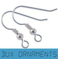 Wholesale Pc Steel Wire - Wholesale - Surgical Steel Ear Wires Hooks ~Bead Coil Earrings Silver Plated French Ear Wire Earring Hooks 1000 pcs