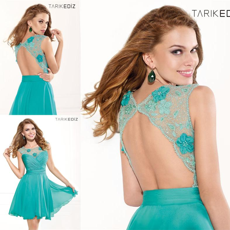 New Listing Tarik Ediz 2014 Backless Cocktail Dresses Ruched And ...