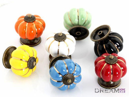 Ручки кухонные кухонные керамические онлайн-Free shipping 10pcs pumpkin Ceramic knob for Kids/ Children, Kitchen Ceramic Door Cabinets Cupboard knob and handles Dia 40mm