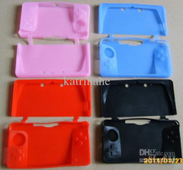 Wholesale Nintendo 3ds Case Cover - 100pcs lot DHL shipping Silicone Sleeve Silicon Case Cover Skin protector for N3DS Nintendo 3DS