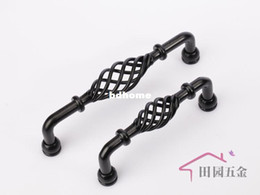 Wholesale Black Kitchen Cabinet Pulls - 96MM Black Iron furniture kitchen cabinet handle   Iron birdcage drawer pull hangle C:96mm L:105mm MUA-96