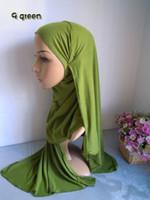 Wholesale Wholesale Jersey Hijab Scarf Muslim - mu256 Single jersey fabric solid colot muslim long scarf cotton blent muslim hijab free shipping