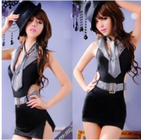 Wholesale Sexiest Secretary Uniform - Wholesale - Retail & 2015--Sexy Lingerie Office Secretary Black Costume,Office Lady Cosplay Uniform