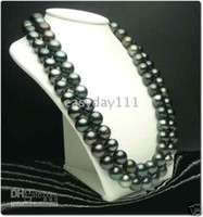Wholesale pearl necklaces for sale - 36 quot Natural AAAA10 mm tahitian black pearl necklace k
