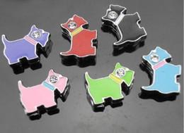 Wholesale Dog Color Slide Charm - Wholesale 50pcs 8mm mix color dog slide charms fit 8mm Pet dog cat Collar