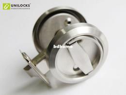 Wholesale Privacy Door Locks - 5 Sets Stainless Steel 304 Recessed Cup Handle  Privacy Sliding Door Locks