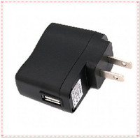 Wholesale Ego Cigarette Adapter - EGO Wall Charger Black USB AC Power Supply Wall Adapter Adaptor MP3 Charger USA Plug work for EGO-T EGO Battery MP3 MP4 Black 20pcs lot