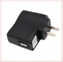 Wholesale Ego Wall Chargers - EGO Wall Charger Black USB AC Power Supply Wall Adapter Adaptor MP3 Charger USA Plug work for EGO-T EGO Battery MP3 MP4 Black 20pcs lot