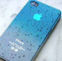 Wholesale Iphone 4s Cover 3d Crystal - 3D Water Drop Dripping Ultra Thin Hard crystal Case Cover for iphone 4 4S gradual change color design 10pcs a lot free shipping