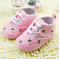 Wholesale Comfort Shoes Wholesale - Free shipping! 6pairs lot!Value Price! A limited forigen trade baby shoes pink color comfort