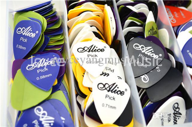 Alice Akustik Elektro Gitar sürü pena Karışık thicknesscolors Seçtikleri