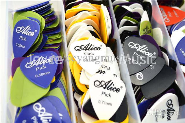 of Alice Acoustic Electric Guitar Picks PlectrumsAssorted thickness&colors