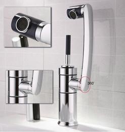 Wholesale Long Basin Tap - Sanitary waresKitchen bathroom sink basin mixer tap chrome swivel with long arm rotate brass Faucet ck003