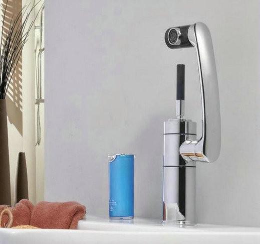 Sanitary waresKitchen bathroom sink basin mixer tap chrome swivel with long arm rotate brass Faucet ck003