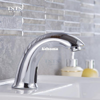 Wholesale Sensor Faucets Basin - Fully automatic sensor faucet intelligent electronic sensor tap touchless basin tap for bathroom kitchen lavatory DC AC Current