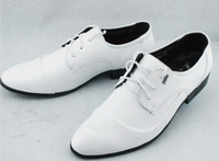 Wholesale Most Popular Business - Most popular white pu leather lace-up cusp shoes men's business casual shoes groom wedding shoes huihui2014