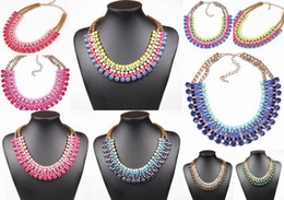 Wholesale Colorful Bubbles Necklace - Lady Bubble Collar Necklace Resin Bib Statement Chokers Colorful Necklaces Jewelry GCC*1