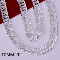 Wholesale Sold 925 Sterling Silver Necklace - Hot selling wholesale 925 silver necklace 925 silver fashion jewelry Chain 10mm Necklace 925 Silver necklace chain New fashion jewelry