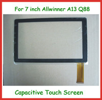 Wholesale Q8 Allwinner A13 Tablet - 5pcs 7 inch Capacitive Touch Screen Replacement Screen for 7 inch Allwinner A13 A23 Q8 Q88 Tablet PC Free Shipping