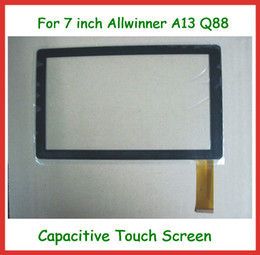 Wholesale Q88 Touch Screen Replacement - 5pcs 7 inch Capacitive Touch Screen Replacement Screen for 7 inch Allwinner A13 A23 Q8 Q88 Tablet PC Free Shipping