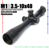 Wholesale Rifle Scopes Leupold - Leupold M1 3.5-10x40 illuminated Red&Green&Blue Mil-Dot Side Wheel Rifle Scope