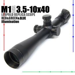 Wholesale Leupold Red Green - Leupold M1 3.5-10x40 illuminated Red&Green&Blue Mil-Dot Side Wheel Rifle Scope