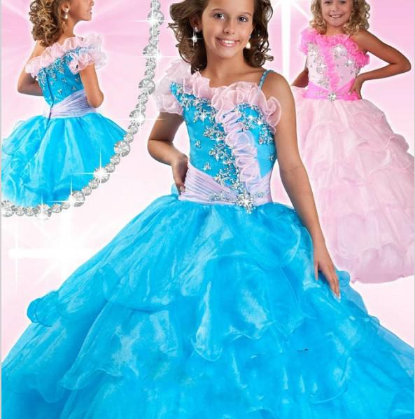Lq 014 New Design Girl Flower Fancy Dress Competition Mix Color ...