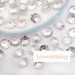 Nice Wholesale 1000 Pcs 8mm 2ct Clear Diamond Wedding Table Scatter Acrylic Crystals Confetti Decoration Gems/free Shipping Festive & Party Supplies