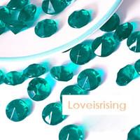 Wholesale Color Diamond Confetti - 18 Color-500pcs lot 10mm 4Carat Navy Blue Wedding Decor Crafts Diamond Confetti Table Scatters Centerpiece Events Party Festive Supplies