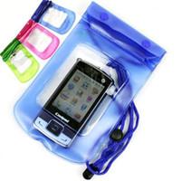 teléfono celular pieza al por mayor-Bolso impermeable de la bolsa subacuática de 5 pedazos / porción del bolso impermeable para el teléfono celular móvil