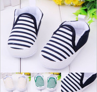 Wholesale Cheap Yellow Baby Shoes - Free shipping Navy striped baby shoes, blue   yellow   green toddler shoes, cheap   soft bottom children shoes,baby wear.9pairs 18pcs.ZH