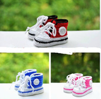 Wholesale Cheap Crochet Baby Boots - 45%off!Newborn crochet shoes. Lace soft bottom toddler shoes. Medium waist casual shoes. Cheap sports shoes .baby wear 5pairs 10pcs