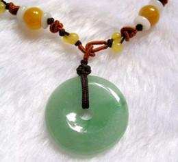 Wholesale Icy Jade - Elegant Burma Jade Jadeite Circle Icy Pendant Necklace